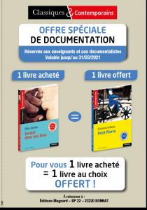 Offre documentation Classiques & Contemporains - 2020-2021