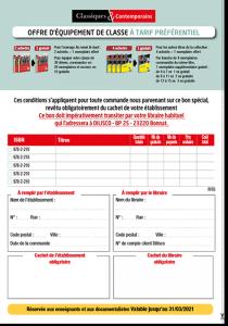 Offre equipement classe Classiques & Contemporains - 2020_2021